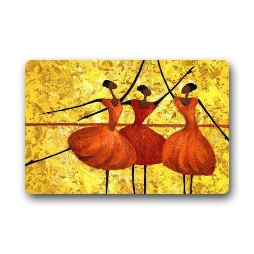 Shirley's Door Mats Abstract Dance Painting Background Doormat/Gate Pad for outdoor indoor bathroom use!23.6inch(L) x 15.7inch(W) Abstract Dance