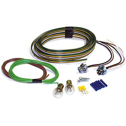Blue Light Kit (Blue Ox BX8869 Bulb and Socket Tail Light Wiring Kit)