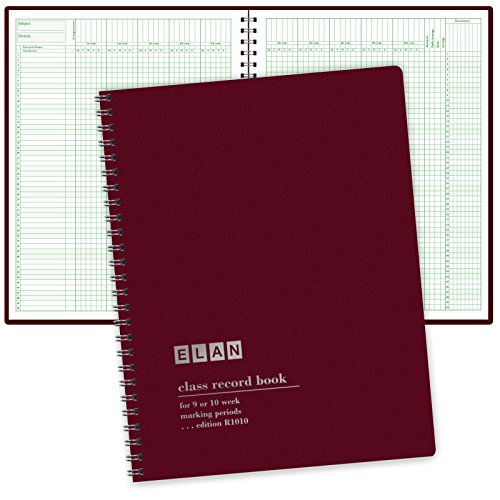 Class Record Book for 9-10 Weeks. 50 Names R1010 (Maroon) (A Color Of His Own Lesson Plan)