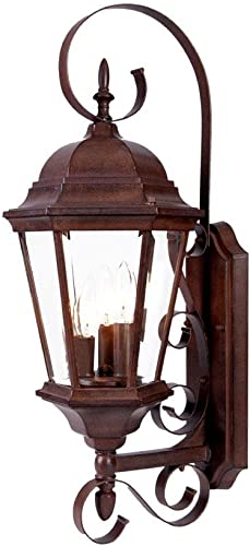 Acclaim 5413BW New Orleans Collection 3-Light Wall Mount Outdoor Light Fixture, Burled Walnut