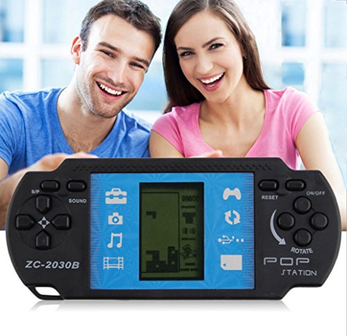 Electronic Pocket Game (Retro Classic Educational Electronic Handheld LCD Pocket Toy Tetris Brick Game Built-in 23 Games)