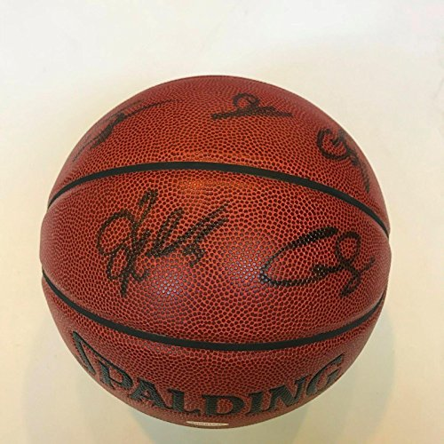 2009-2010 Miami Heat Team Signed Spalding Basketball COA - Upper Deck Certified - Autographed Basketballs
