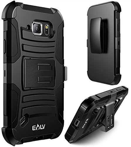 Galaxy S6 ACTIVE case, E LV (HOLSTER DEFENDER) Case Cover - SHOCK PROOF/IMPACT RESISTANT Dual Layer Heavy Duty Holster Full Body Protection - case cover for Samsung Galaxy S6 ACTIVE from E LV