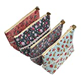 LJY 4x Large Capacity Floral Pen Holder Pencil Pouch Cosmetic Bags
