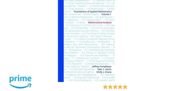Foundations of Applied Mathematics, Volume 1: Mathematical