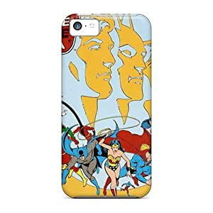 5c Scratch-proof Protection Case Cover For Iphone/ Hot Classic Jla Phone Case