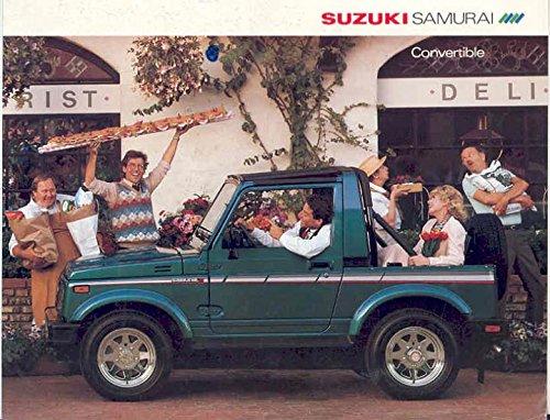1986 Suzuki Samurai Convertible Sales Brochure