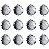 LMS 1.96 / 1.18 / 1.57 inches 40mm Chandelier Crystal Ball, Wedding Decoration, Party Favor, Party Table Decor,Clear Crystal Ball Prism Pendant Suncatcher!(12-Pack/1.57 inches)