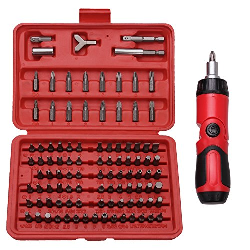 Best Choice 101-Piece All Purpose Security Bit Set with Bonus Ratcheting Screwdriver, Chrome Vanadium Steel, Tamper Proof Design, ANSI Standard