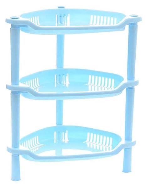 Mobiletto Bagno Plastica.Bleumoo 3 Ripiani Plastica Angolo Mobiletto Bagno Cucina