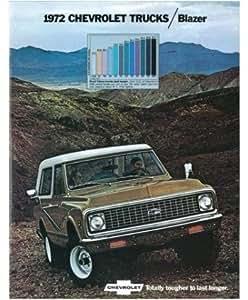1972 Chevrolet Blazer Sales Brochure Literature Book Piece Advertisement