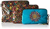 Sakroots Artist Circle 3 Piece Set Cosmetic Bag, Rainbow Spirit Desert, One Size