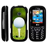 LG Cosmos 2 Case VN251 | LG Cosmos 3 Case VN251S [Slim Duo] Compact Fit Hard Snap On Case Slim Cover on Black Sports and Games Design by TurtleArmor - Golf Ball Tee