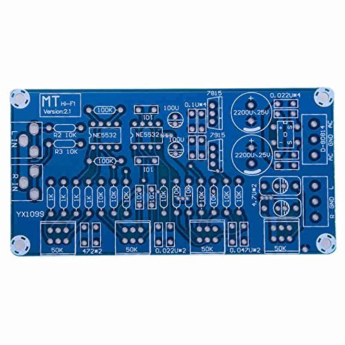 ERTIANANG New Arrival NE5532 OP-AMP HiFi Amplifier Preamplifier Volume Tone EQ Control Board DIY Kits AC 12V Amplifiers