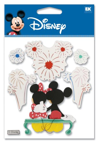Disney Stickers For Scrapbooking - Disney Fireworks Mickey Dimensional Sticker