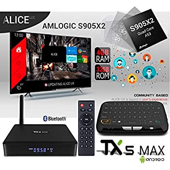 Apes TX5 MAX-X2 Android 8.1 Amlogic S905-X2 Alice UX Quad Core Bluetooth