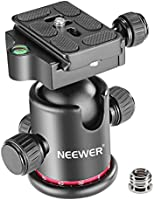 Neewer Professional Metal 360 Degree Rotating Panoramic Ball Head with 1/4 inch Quick Release Plate and Bubble Level,up...