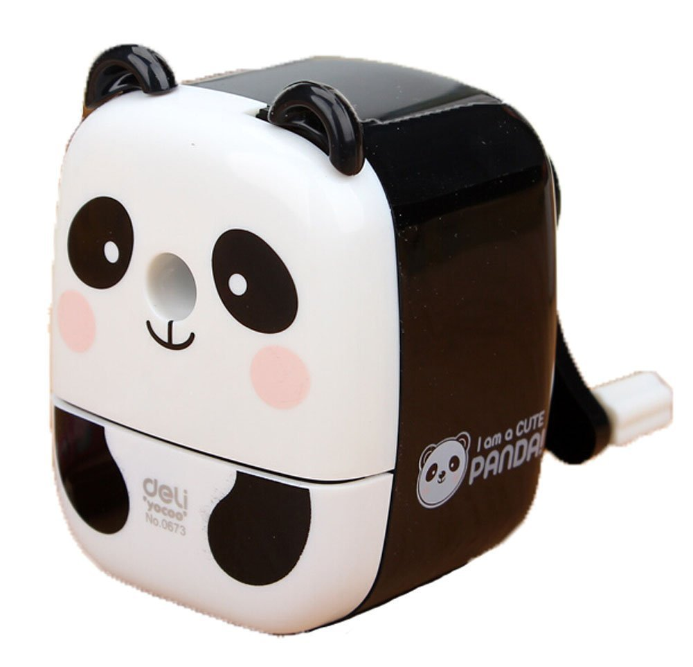 Creative Gift Lovely Panda Hand Rotating Pencil Sharpener For Office Classroom Xuanqin