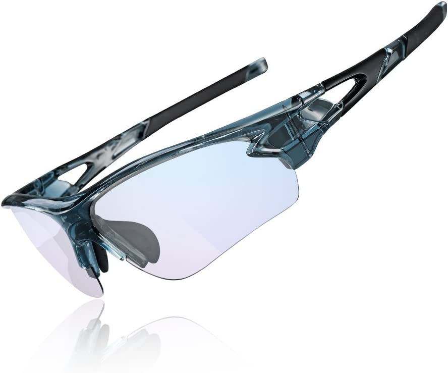 ROCKBROS Gafas de Sol Fotocromáticas Protección UV 400 Anti Azul para Interiores y Exteriores Ordenador Lectura Ciclismo y Deportes al Aire Libre para Hombre y Mujer