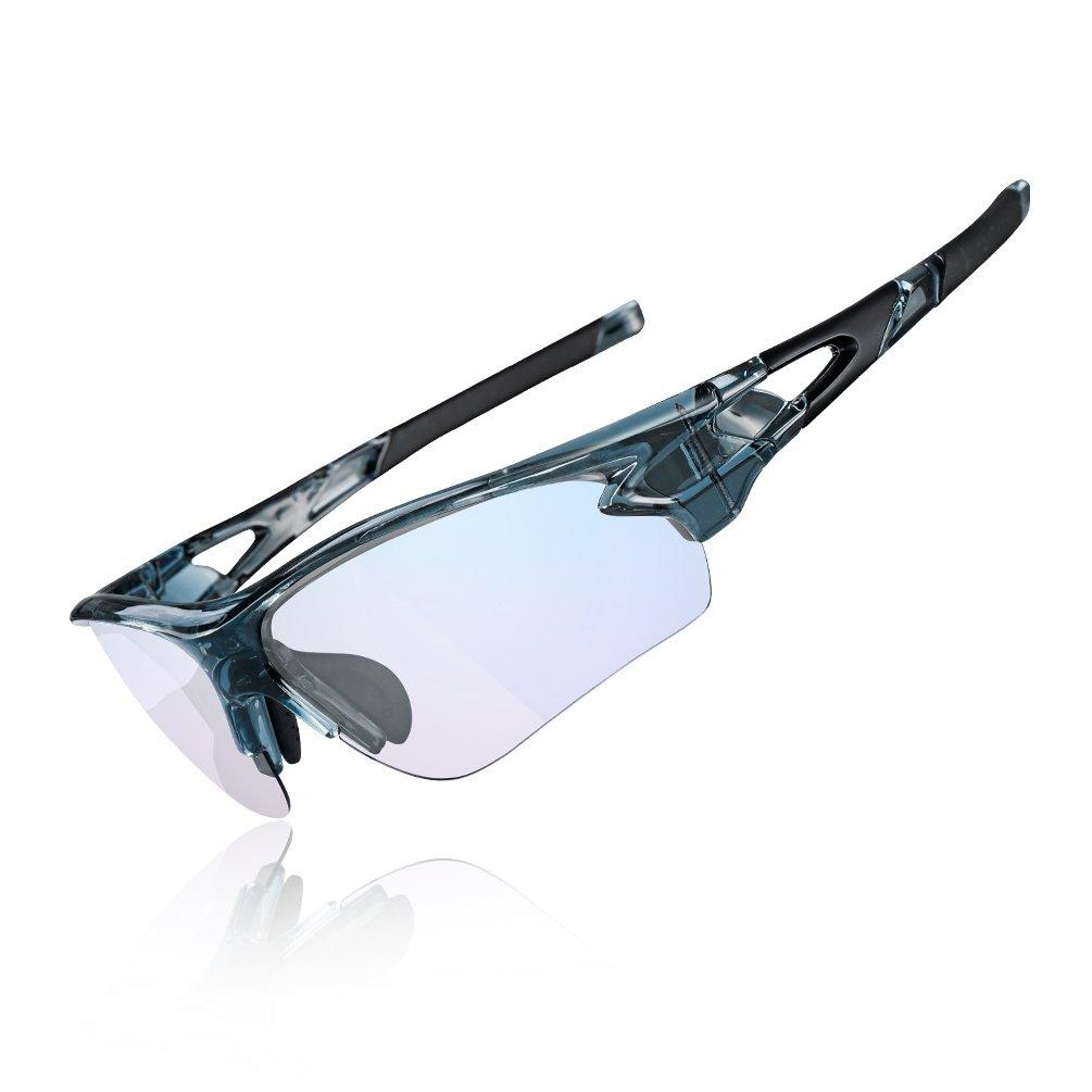 Gafas de sol fotocromáticas con bloqueadores de luz azul para interiores y exteriores.