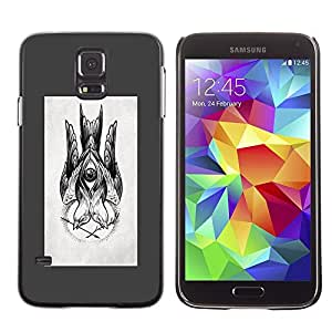 Plastic Shell Protective Case Cover || Samsung Galaxy S5 SM-G900 || Drawing Ink Pencil Black @XPTECH