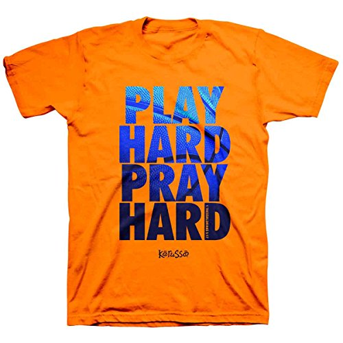 Play Hard, Tee, 3X, Safety Orange - Christian Fashion Gifts