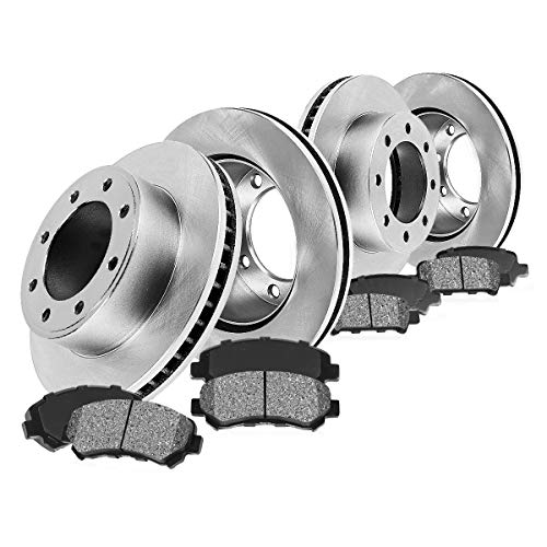 FRONT 325 mm + REAR 330 mm Premium OE 8 Lug [4] Rotors + [8] Metallic Brake Pads