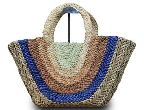 Shopper Basket Beach Bag Ibiza - Heart Ibizatasche Star Beach Brown Straw Basket Xl