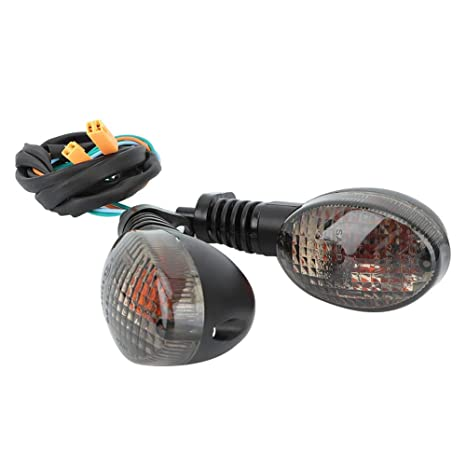High Brightness Motorcycle Turn Signal Light Fit For Kawasaki Para Ninja 250(Black)
