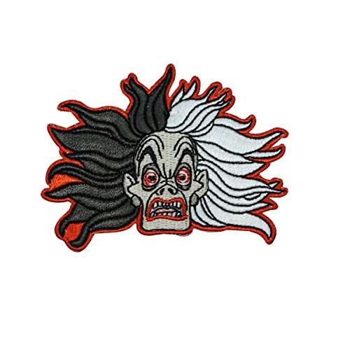 101 Dalmatians Crazy Cruella Iron-On Patch DIY Disney Villain Character Applique