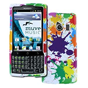Cellphone Accessory Best Series Glossy Case for Huawei Ascend Q - White Paint Splatter