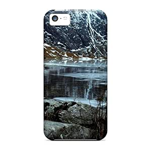 Tough Iphone WsZlL12070wVpxr Case Cover/ Case For Iphone 5c(mountain Lake In Winter)