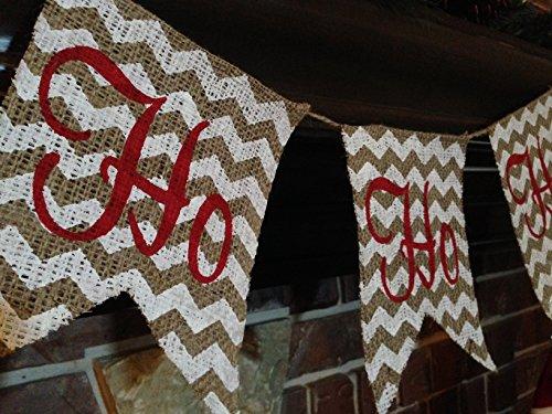 Christmas Decoration / Santa / Ho Ho Ho Burlap Banner / Bunting Handmade Christmas Decorations Pinterest