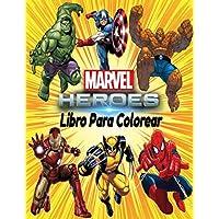 Marvel Heroes libro para colorear: marvel libro colorear