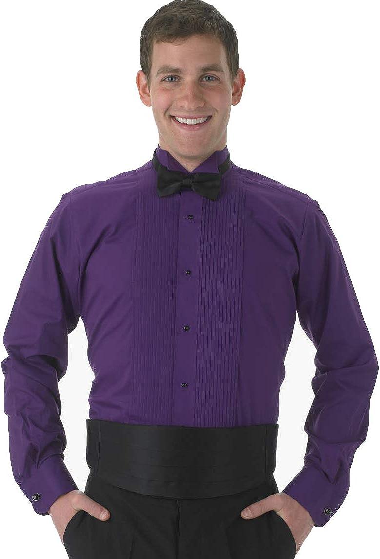 Henry Segal Mens Long Sleeve Colored Wing Tip Tuxedo Shirt