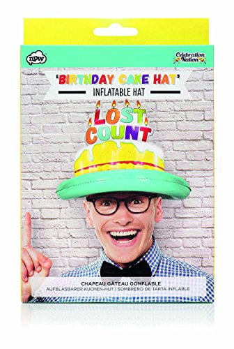 NPW NP32635 Inflatable Adult Birthday Hat, Lost Count, one size, Multicolor