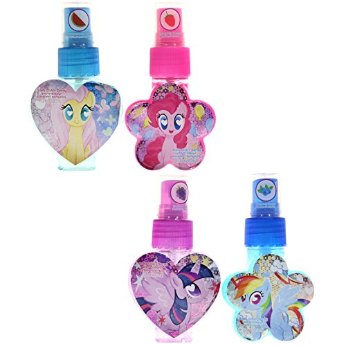 TownleyGirl My Little Pony Body Glitter Spray, Multiple Sparkly, Shiney, Scented Colors, 4 CT