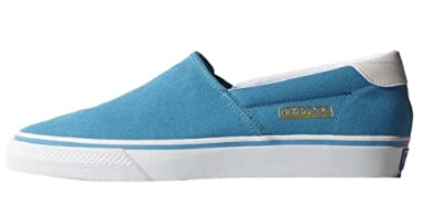 adidas Originals Adidrill Vulc Canvas Schuhe Slipper Ballerina Sneaker blau/weiszlig;