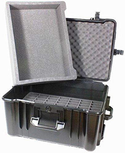 Williams Sound CCS 049 Large Heavy-Duty Carry Case (70 Slot + Tray); Has a lower foam insert with 70 slots, and an open-bay style top insert; Fits with all Williams Sound body-pack transmitters and receivers by Williams Sound (Image #1)