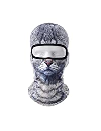 VERTAST Balaclava Face Mask, 2017 New Design 3D Animal Active Full Face Mask for Skiing Cycling Motorcycling Helmet Liner Hiking Camping Neck Warmer
