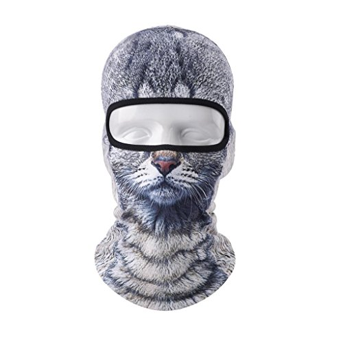 VERTAST Balaclava Face Mask, 2017 New Design 3D Animal Active Full Face Mask for Skiing Cycling Motorcycling Helmet Liner Hiking Camping Neck Warmer, Cat-boy New Balaclava