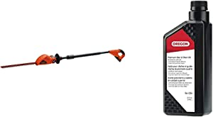 BLACK+DECKER 20V MAX Cordless Pole Hedge Trimmer, 18-Inch (LPHT120) & Oregon 54-026 Chainsaw Bar and Chain Oil, 1 Qt