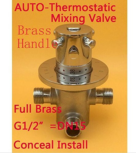 """Brass G1/2""""wall mounted Thermostatic Mixer Valve Hot Cold Water For Bidet Spray Hand Shower"""