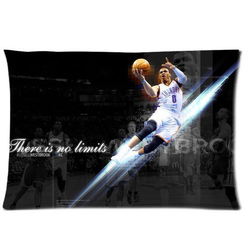 Oklahoma Russell Silk - Cute Design Standard Size 20x30 Two Side Print NBA Oklahoma City Thunder Russell Westbrook Cool Pillowcases Protector gift for kids-5