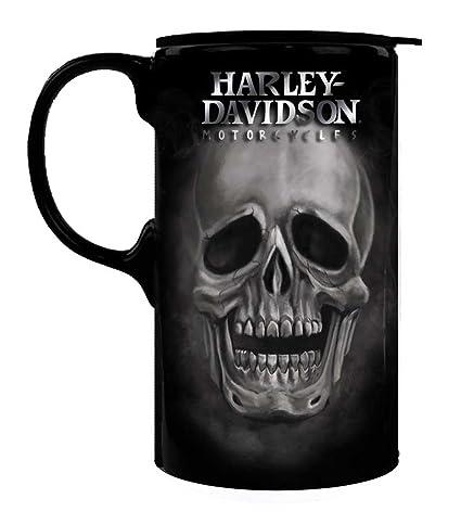 42d7c7549d6 Harley-Davidson Tall Boy Travel Latte Mug, H-D Skull, Gift Box Set 3TBT4906