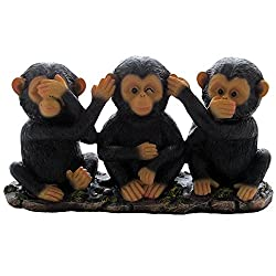 No Evil Monkeys Figurine