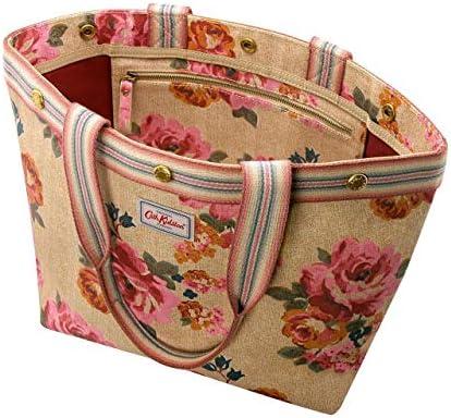 Cath Kidston Studded Top Handle Tote Bag - Somerset Rose - Tan