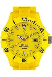 Toy FL03YL Women's 40M WR Yellow Plasteramic Strap Watch