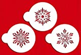 Designer Stencils C748 Small Crystal Snowflakes 3 Cookie Stencils, Beige/semi-transparent