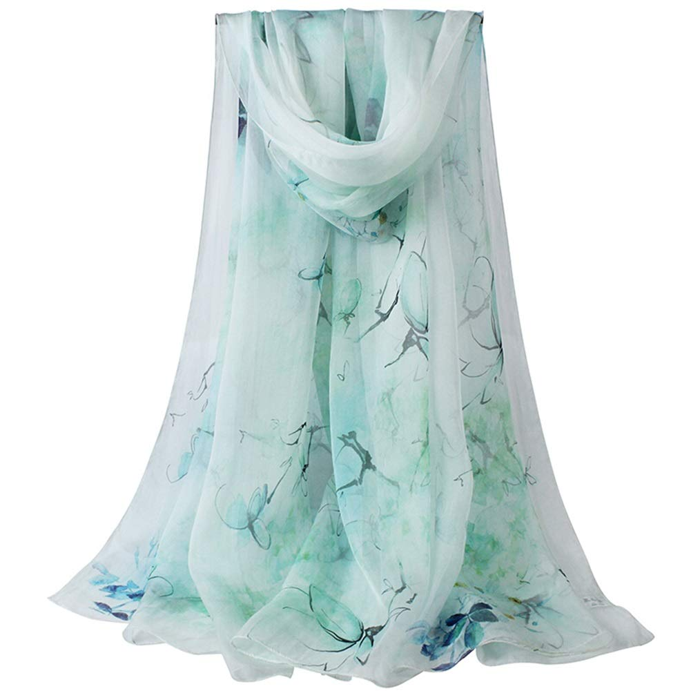 twenty four Long Scarves Wrap Shawl Long Stole Thick Style Scarf Headscarf Neck Wrap Stole MufflerSilk Spring, Summer and Autumn Shawl Shawl Dual Purpose HENGXIAO (color    2, Size   175  110cm)